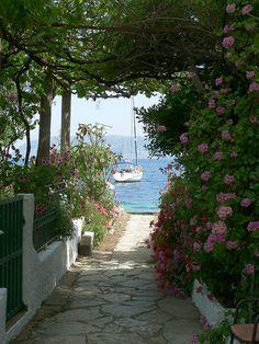 Kalami bay, on the north east coast of Corfu island,Greece.