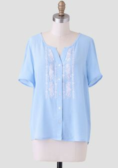Springtime In Bienne Button-Up Blouse