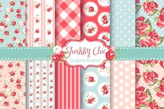 Check out Shabby Chic Rose Digital Paper pack by GraphicMarket on Creative Market