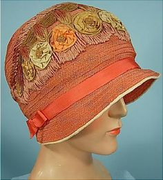CLOCHE NARANJA 1925 I am in Love with this Hat...Donnine...