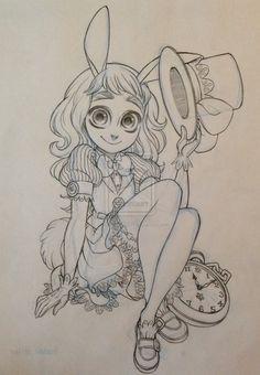 The White Rabbit by SAkURA-JOkER on DeviantArt