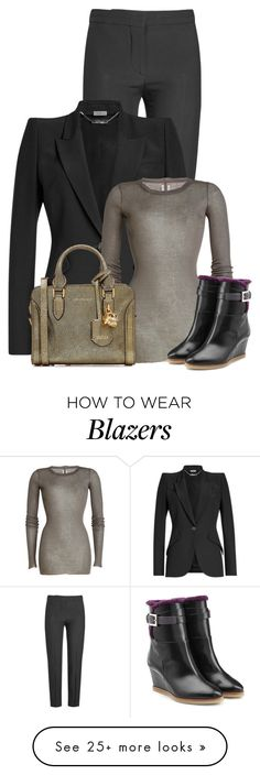 """""""Untitled #21385"""" by nanette-253 on Polyvore featuring Alexander McQueen, Rick Owens and Fendi"""