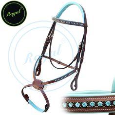 Royal Blue Round Ring Diamond Figure 8 Bridle