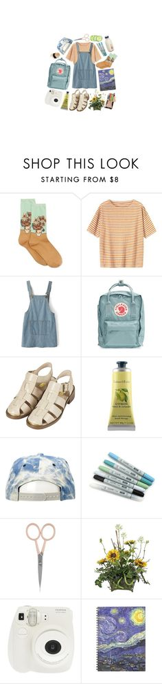 """""""art hoe"""" by awfulbabe ❤ liked on Polyvore featuring HOT SOX, Toast, Chicnova Fashion, Fjällräven, Topshop, Crabtree & Evelyn, Mitchell & Ness, Anastasia Beverly Hills and Fuji"""
