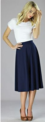 Such a cute outfit. Loving navy and white paired together! Mikarose Summer 2013 Collection MODEST