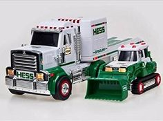 http://www.kidsgametoys.com/  2013 Hess Truck $9.65  REAL HEAD AND TAIL LIGHTS WITH FLASHERS MULTIPLE SOUND FEATURES MOTORIZED TRACKED LOADER WITH LIGHTS,MECHANICAL BUCKET AND DIGGER ARM