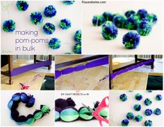 "Making Pompoms in Bulk by Flax & Twine ("",)"