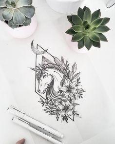 Unicorn tattoodesign ❤