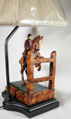 $175 Foxhunter Over Desk Lamp    Equestrian Horse Equine Made in USA!