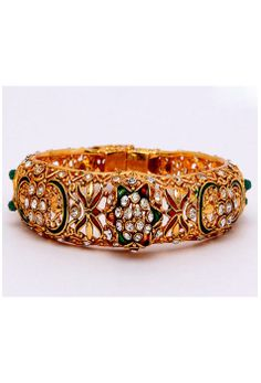 #Multicolor Stone Studded #Bangle Itemcode: JVM192 Price: $26.52 #Shop Now @ http://www.utsavfashion.com/jewelry/multicolor-stone-studded-bangle/jvm192-itemcode
