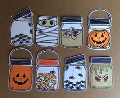 Halloween tags using Jar of Haunts