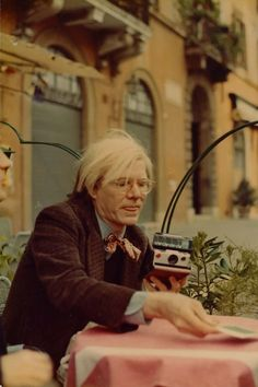 Warhol in 1972 from the book, Andy Warhol, Polaroids 1958-1987
