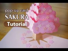 """SAKURA"" pop-up card [Tutorial] - YouTube"
