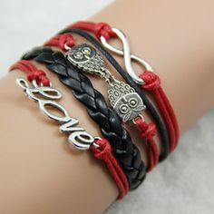 FallFor Love, Owls, and Infinity Bracelet