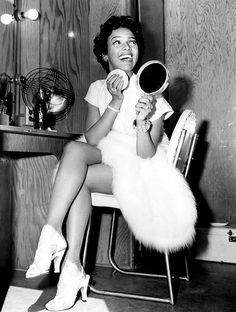 Dorothy Dandridge on the set of Carmen Jones 1954.