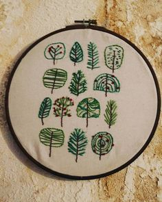 Embroidery  #embroideryart#forest#tree#green#art Green Art, Embroidery Art, Instagram, Products, Gadget