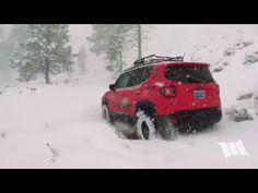 RENEGADE SNOW DAY : Snow Wheeling a Jeep Renegade Trailhawk - YouTube