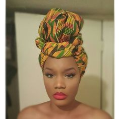 Kente turban perfection