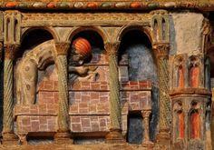 Detalle del Cenotafio - Basílica de San Vicente, Ávila Romanesque, Medieval, Painting, Travel, Europe, Roman Architecture, Roman Art, San Vicente, Middle Ages