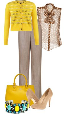 """spring in office"" by mango1023 ❤ liked on Polyvore"