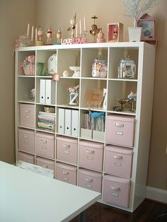 Ikea expedit looking pretty...we love expedits in our home