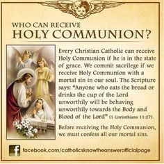 Who can receive Holy Communion in the Catholic Church?