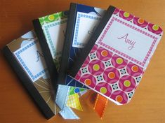 Easy Craft – Mini Composition Book Make-Over. for mommy/daughter diaries. child write a note to mom each night before bed & mom will reply the next day Diy Crafts For Gifts, Easy Diy Crafts, Fun Crafts, Crafts For Kids, Paper Crafts, Handmade Crafts, Handmade Rugs, Altered Composition Notebooks, Composition Notebook Covers