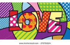 LOVE. TYPO. Modern pop art artwork for your design