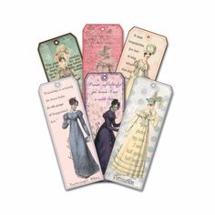 Jane Austen bookmarks - I need these!  Hey, I found this really awesome Etsy listing at https://www.etsy.com/listing/73647104/jane-austen-bookmarks-quotations-shabby