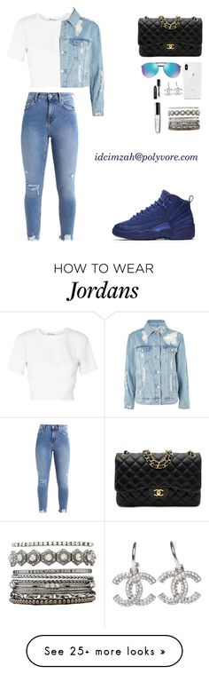 """""""young blue"""" by idcimzah on Polyvore featuring NIKE, T By Alexander Wang, Rebecca Minkoff, Topshop, Chanel, Ray-Ban, Bobbi Brown Cosmetics and Charlotte Russe"""