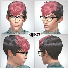 My Sims 4 Blog: Kijiko Panda Kang Kang Hair for Males