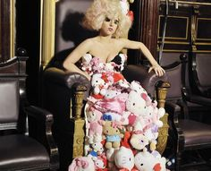 Lady Gaga Hello Kitty Plush Dress..wow