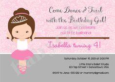Princess Ballerina Birthday Invitation  DIY Print by jcbabycakes, $12.00