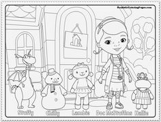 Doc McStuffins Docs In Door Sign Big Book Of Boo Boos Coloring Pages Craft Ideas