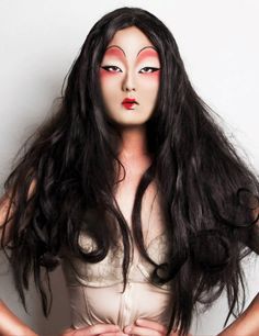 kim chi. How talented! Stunning look. It reminds me of a Japanese ghost story.