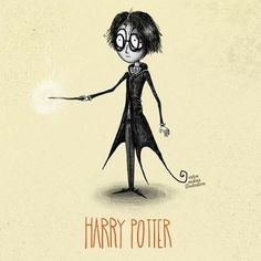 Geek Art: Artist Re-creates Harry Potter Characters in the Style of Tim Burton! Harry Potter Fan Art, Harry Potter Universal, Harry Potter Characters, Art Tim Burton, Tim Burton Style, Burton Burton, Harry Potter Ilustraciones, Hogwarts, Desenhos Tim Burton
