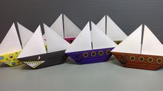 Free Origami Sailboat Paper - Print Your Own! - Pirate and Shark Ships