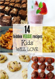 Kids Meals Does your child hate eating his or her vegetables? Check out these amazing hidden vegetable recipes for kids, they won't even know they are eating veggies! - A great bite-sized snack or a delicious side dish! Vegetable Recipes For Kids, Vegetarian Meals For Kids, Kids Cooking Recipes, Healthy Meals For Kids, Baby Food Recipes, Kids Meals, Healthy Snacks, Snack Recipes, Kid Recipes