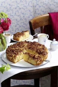 Apfelkuchen mit Walnuss-Karamell-Haube (Tarte Tatin)