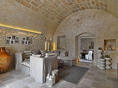The Relais Masseria Capasa is a stunning hotel located in Martano, Italy. Originally constructed in the century, the property was renovated by Paolo Fracasso in Photos courtesy of the Relais Masseria Capasa Share your Thoughts Style At Home, Interior Architecture, Interior Design, Italy Architecture, Stone Houses, Rustic Interiors, Home Fashion, Home And Living, Living Room
