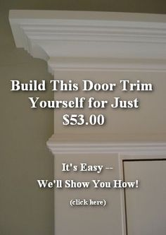The Joy of DIY Interior Moldings Before and after pictures of molding on patio double doors. Diy Interior, Interior Trim, French Interior, Interior Doors, Home Renovation, Home Remodeling, Moldings And Trim, Crown Moldings, Window Molding Trim
