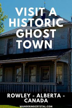 Visit the historic ghost town Rowley in Alberta Canada - Rowleywood Ghost Town Movie, Ghost Town Band, Haunted Places, Abandoned Places, Ghost Towns Of America, Alberta Travel, Weekend Camping Trip, Old Hospital, New York Travel