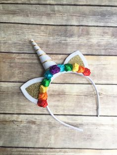Rainbow Unicorn headband - unicorn horn - valentines gifts for girls - rainbow unicorn party - felt unicorn headband - unicorn lover gift by DivazByDesign on Etsy https://www.etsy.com/listing/507214179/rainbow-unicorn-headband-unicorn-horn