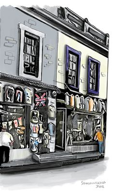 Dibujos viajeros. El lado alternativo de las ciudades My Drawings, London Christmas, London Travel, T Shirt Store, Sketching, Cities, Drawings, Watercolor Painting