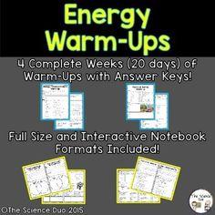 Energy Warm-Ups (Bell Ringers)