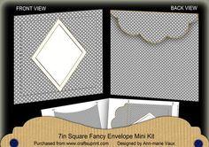 Silver Dotty Diamond 7x7inch Easy Envelope Mini Kit on Craftsuprint - Add To Basket!
