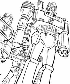 Coloring 3 robots transformers picture