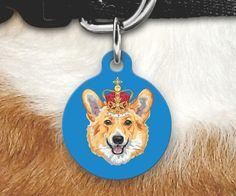 Corgi Pet ID Tag -Corgi-Corgi Gift -Double Sided Pet Tag-Custom corgi Tag-Funny Pet Tag-Dog Tag-Funny Tag-Royal Corgi-Personalized Pet Gifts by MysticCustomDesignCo on Etsy
