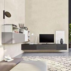Die Design Audio Wohnwand C51 Hat Eine Integrierte TV Halterung. #Wohnwand  #Wohnzimmer #