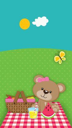 Wallpaper Iphone Wallpaper Stars, Summer Wallpaper, Wallpaper Iphone Disney, Cute Wallpaper Backgrounds, Cellphone Wallpaper, Hello Kitty Wallpaper, Bear Wallpaper, Girl Wallpaper, Pattern Wallpaper